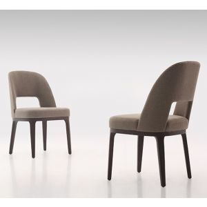 Modern affordable dining chair with a solid wood base and fabric or leather upholstery. On sale at Hong Kong number 1 furniture store - DSL Furniture