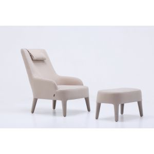 comfortable fabric armchair with stool - buy affordable furniture online at DSL Furniture